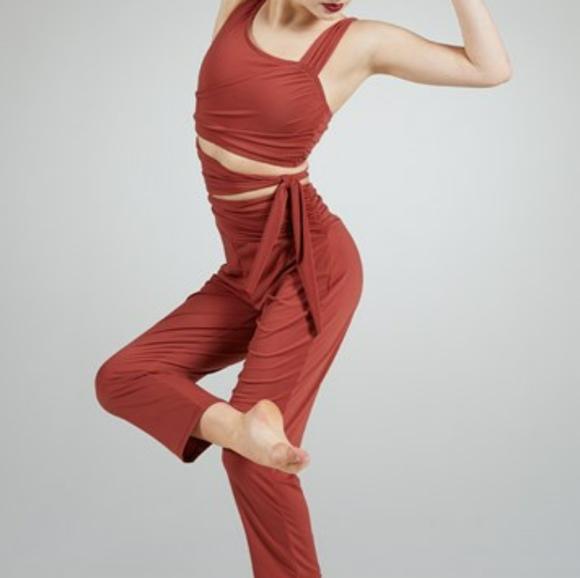 Cropped cutout jumpsuit